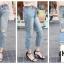 กางเกงยีนส์แฟชั่น Boyfriend Distressed Jeans thumbnail 5