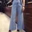 กางเกงยีนส์ Wide-Leg Denim Pants wt Belt thumbnail 3
