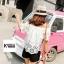 เสื้อแฟชั่นปักฉลุเกาหลี thumbnail 4