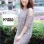 ชุดเดรสแฟชั่น Lilly Cut Shoulder Lace Dress by ChiCha's สีเทา thumbnail 2