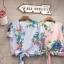 เสื้อแฟชั่นNanda Striped Floral Bowtie thumbnail 6