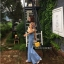 กางเกงยีนส์ขาบาน Bell Leg Wash Jeans thumbnail 3