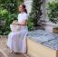 แม็กซี่เดรส Preedeematter Maxi Dress สีขาว thumbnail 4