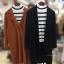 ชุดเซ็ทเสื้อคลุมเบลเซอร์ Set : Knit Long Blazer wt Stripe Knit Top thumbnail 18