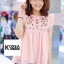 เสื้อแฟชั่น Zara Sweet Floral Embroidery Blouse thumbnail 1