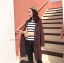 ชุดเซ็ทเสื้อคลุมเบลเซอร์ Set : Knit Long Blazer wt Stripe Knit Top thumbnail 14