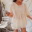 เสื้อลูกไม้ Embroidered Lace Midi Dress thumbnail 8