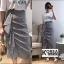 กระโปรงแฟชั่น Embellished Check Midi Skirt thumbnail 2