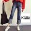 กางเกงยีนส์แฟชั่นปลายขาพับ สไตล์เกาหลี STYLERICH BY KOREA thumbnail 4